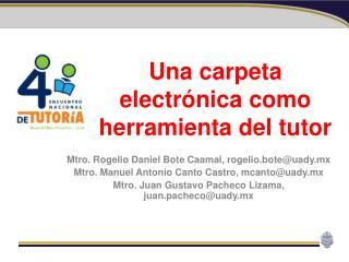 Una carpeta electrónica como herramienta del tutor