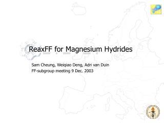 ReaxFF for Magnesium Hydrides