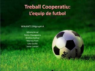 Treball Cooperatiu :  L'equip  de futbol