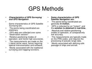 GPS Methods