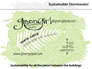 Sustainable Stormwater