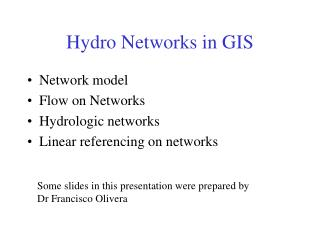 Hydro Networks in GIS