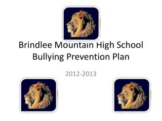 Brindlee  Mountain High School Bullying Prevention Plan