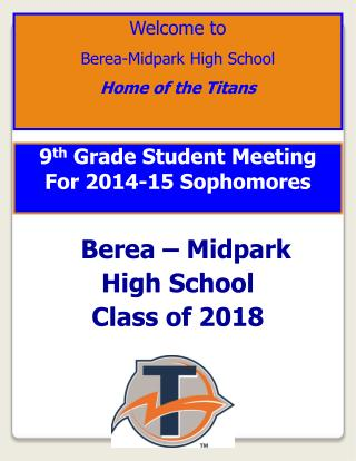 9 th  Grade Student Meeting For 2014-15 Sophomores