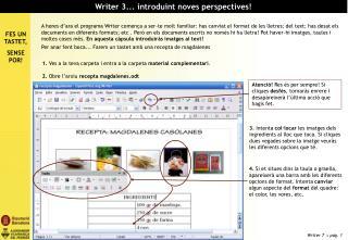 Writer 3... introduint noves perspectives!
