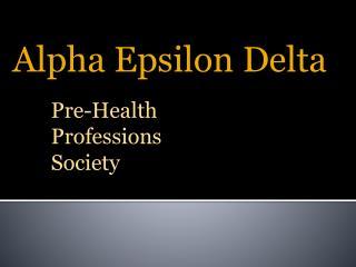 Alpha Epsilon Delta