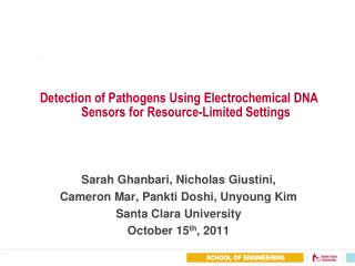 Detection of Pathogens Using Electrochemical DNA Sensors for Resource-Limited Settings