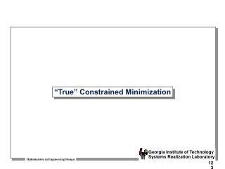 True  Constrained Minimization