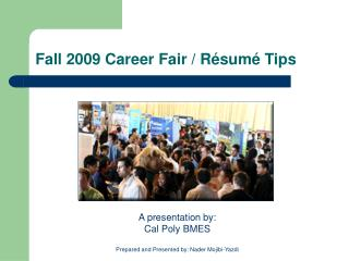Fall 2009 Career Fair / Résumé Tips