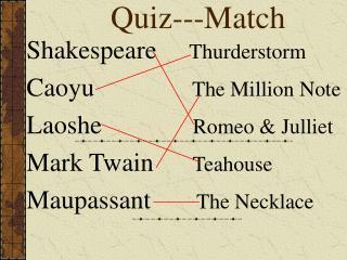Quiz---Match