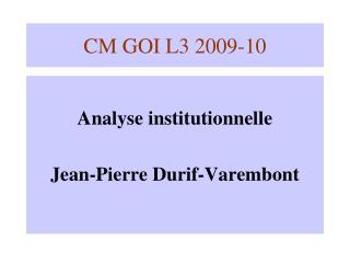 CM GOI L3 2009-10