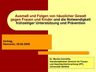 Vortrag,  Hannover, 28.05.2009