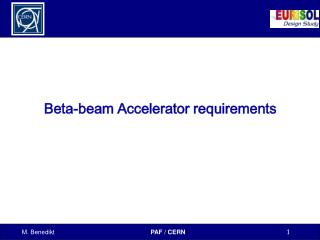 Beta-beam Accelerator requirements