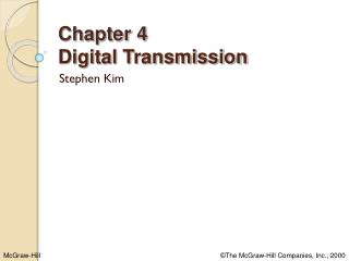 Chapter 4 Digital Transmission