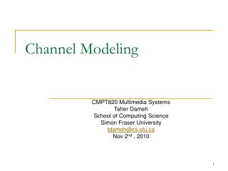 Channel Modeling