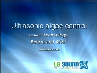 algae control LG Sonic
