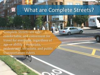 What are Complete Streets?