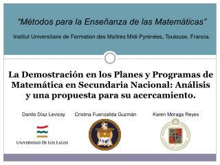 """""""Métodos para la Enseñanza de las Matemáticas"""""""