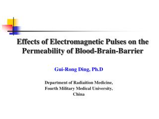 Effects of Electromagnetic Pulses on the Permeability of Blood-Brain-Barrier