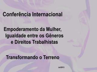 Confer�ncia Internacional