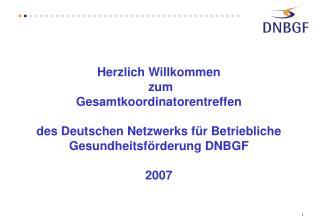 Das DNBGF hat  661 Mitglieder