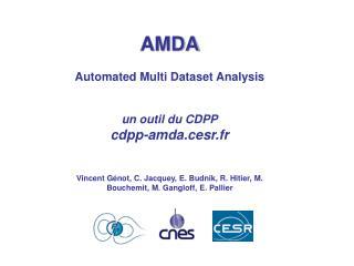 AMDA Automated Multi Dataset Analysis un outil du CDPP cdpp-amda.cesr.fr