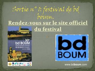 Sortie n° 1: festival de bd boum.