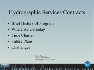 Hydrographic Services Contracts