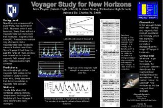 Voyager Study for New Horizons