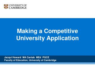 Making a Competitive University Application