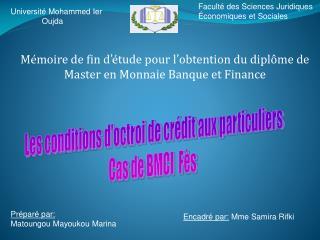 Université Mohammed Ier               Oujda