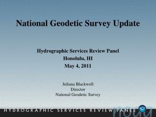 National Geodetic Survey Update