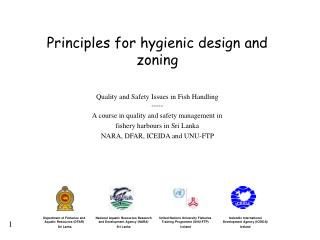 Principles for hygienic design and zoning