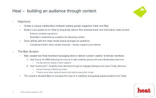 Heat –  building an audience through content