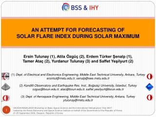 AN ATTEMPT FOR FORECASTING OF SOLAR FLARE INDEX DURING SOLAR MAXIMUM