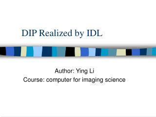 DIP Realized by IDL
