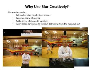 Why Use Blur Creatively?