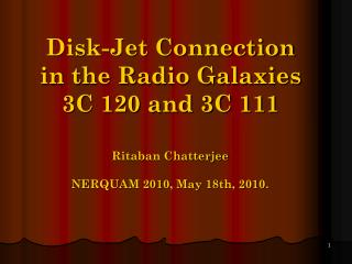 Disk-Jet Connection in the Radio Galaxies 3C 120 and 3C 111