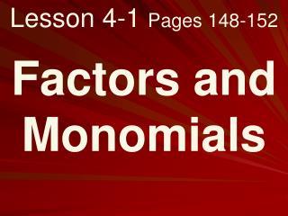 Lesson 4-1  Pages 148-152