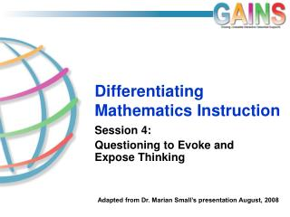 Differentiating Mathematics Instruction