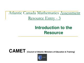 Atlantic Canada Mathematics  Assessment Resource Entry - 3