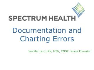 Documentation and Charting Errors