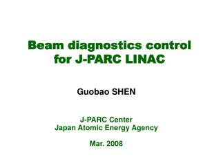 Beam diagnostics control  for J-PARC LINAC