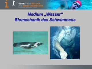 """Medium """"Wasser""""  Biomechanik des Schwimmens"""