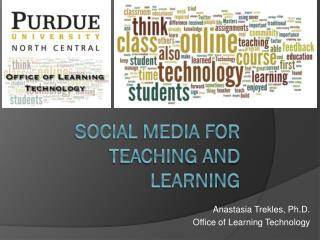 Social Media for Teaching and Learning