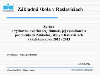 Základná škola v Raslaviciach