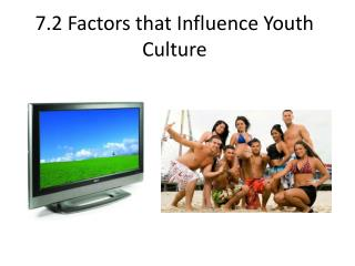 7.2 Factors that Influence Youth Culture