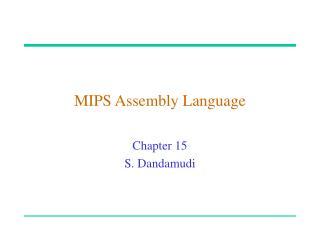 MIPS Assembly Language