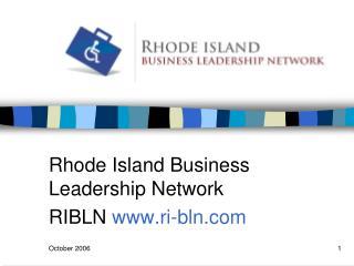 Rhode Island Business Leadership Network  RIBLN  ri-bln