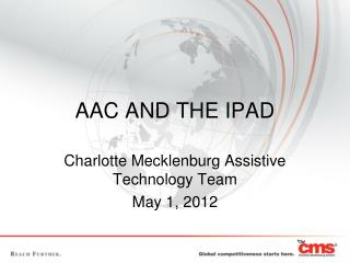 AAC AND THE IPAD